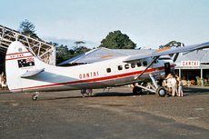 Aircraft photo of VH-EAX - De Havilland Canada DHC-3 Otter - Qantas, taken in 1959 by Ben Dannecker (via David Carter).