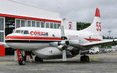 Aircraft photo of C-FHKF - Convair 580(AT) - Conair Aviation, taken by Aad van der Voet at Abbotsford (CYXX / YXX) in British Columbia, Canada on 5 June 2006.