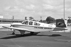 Aircraft photo of VH-CFC - Beech V35 Bonanza - Civil Flying Services, taken by Geoff Goodall (via David Carter) at Perth - Jandakot (YPJT / JAD) in Western Australia, Australia in October 1969. VH-CFC was damaged at Smoke Creek, Western Australia, on May 2, 1980.