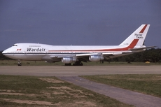 Aircraft photo of C-GXRA - Boeing 747-211B - Wardair Canada, taken by Lewis Grant at London - Gatwick (EGKK / LGW) in England, United Kingdom on 16 August 1981.