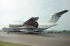 Aircraft photo of 72-1875 / 53 - McDonnell Douglas YC-15A - USA - Air Force, taken by Paul Seymour at Mildenhall (EGUN / MHZ) in England, United Kingdom on 29 May 1977 during the Mildenhall Air Fete 1977. The first of two which were built. First flew in 1975. Stored at Davis-Monthan AFB in 1979. To the Pima Air Museum in 1981. Returned to flying status as N15YC in 1996. Damaged in an emergency landing ...