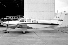 Aircraft photo of VH-EZX - Beech E55 Baron, taken by Geoff Goodall (via David Carter) at Sydney - Bankstown (YSBK / BWU) in New South Wales, Australia on 3 August 1974. Ended up as P2-GKX in 1979.