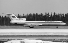Aircraft photo of CCCP-85346 - Tupolev Tu-154B-2 - Aeroflot, taken by Pertti Sipilä at Helsinki - Vantaa (EFHK / HEL) in Finland on 20 March 1982. Later RA-85346
