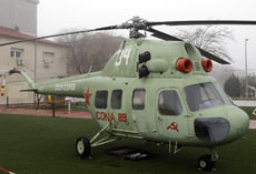 Aircraft photo of CCCP-23760 / 34 / ICONA 89 - Mil Mi-2 - Soviet Union - Air Force, taken by David Unsworth at Madrid - Cuatro Vientos (LECU / LEVS) in Spain on 3 January 2018 at the Museo del Aire. Taken on a misty day