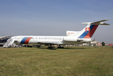 Aircraft photo of OM-BYO - Tupolev Tu-154M - Slovakia - Government, taken by Alastair T. Gardiner at Košice (LZKZ / KSC) in Slovakia on 18 September 2018 at the Muzeum Letectva Kosice. This 154 was delivered to the Czechoslovakian Govt. in May 1989, transferred over to the Slovaks on 1st January 1993 and placed onto the Slovak register in April 1994. It spent 4,5 years at the Aviako...