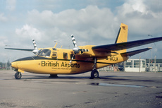 Aircraft photo of G-BCLK - Aero Commander 500S Shrike Commander - British Airports, taken by Paul Seymour at London - Gatwick (EGKK / LGW) in England, United Kingdom on 7 May 1977.