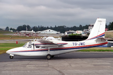 Aircraft photo of TG-JWC - Aero Commander 500S Shrike Commander, taken by Paul Seymour at Guatemala - La Aurora (MGGT / GUA) in Guatemala on 28 November 1996.