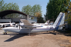 Aircraft photo of CC-CFN - Aero Commander 500S Shrike Commander, taken by Paul Seymour at Santiago - Los Cerrillos (SCTI / ULC) (closed) in Chile on 12 March 1996.