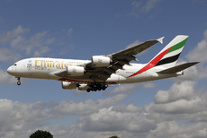 Aircraft photo of A6-EEJ - Airbus A380-861 - Emirates, taken by David Unsworth at London - Heathrow (EGLL / LHR) in England, United Kingdom on 21 July 2015.