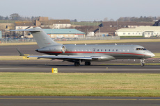 Aircraft photo of 9H-VJR - Bombardier Global 6000 (BD-700-1A10) - VistaJet, taken by Ian Howat at Glasgow - Prestwick (EGPK / PIK) in Scotland, United Kingdom on 15 February 2019.