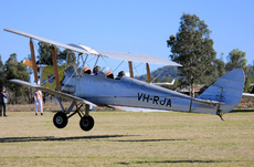 Aircraft photo of VH-RJA - De Havilland DH.82 Tiger Moth, taken by Ian McDonell at Clifton (YCFN) in Queensland, Australia on 30 July 2016.