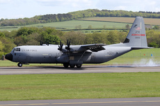 Aircraft photo of 02-8155 / 28155 - Lockheed Martin C-130J-30 Hercules (L-382) - USA - Air Force, taken by Ian Howat at Glasgow - Prestwick (EGPK / PIK) in Scotland, United Kingdom on 17 May 2018.