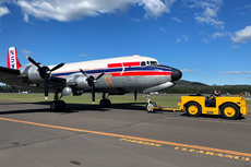 Aircraft Photo of VH-EAY | Douglas C-54E Skymaster | Historical Aircraft Restoration Society - HARS | Airlines of NSW / Qantas | AirHistory.net