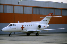Aircraft Photo of HB-VIK | British Aerospace BAe-125-800A | REGA - Swiss Air Ambulance | AirHistory.net